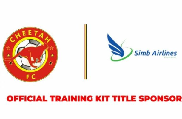Cheetah FC lands sponsorship deal with Simb Airlines as official training kits sponsors