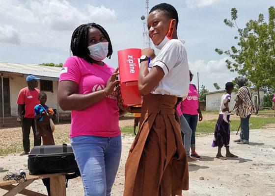 Zipline marks menstrual hygiene day with donations to schools