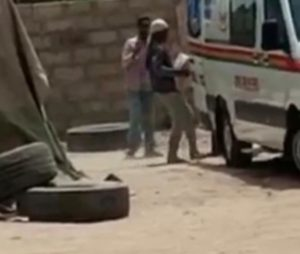 Ambulance loading cement bags is from Sege - Eyewitness [VIDEO]