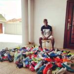 Christian Atsu donates football boots to cheetah FC