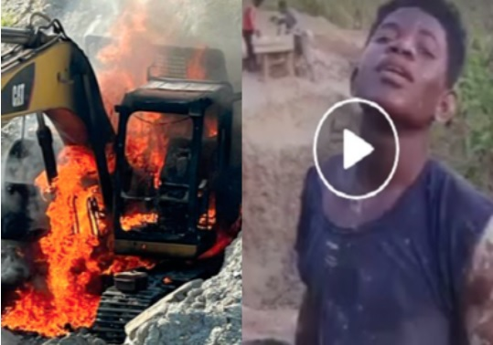 You can burn excavators but I'll dig with my hands - 'Galamseyer' to Akufo-Addo