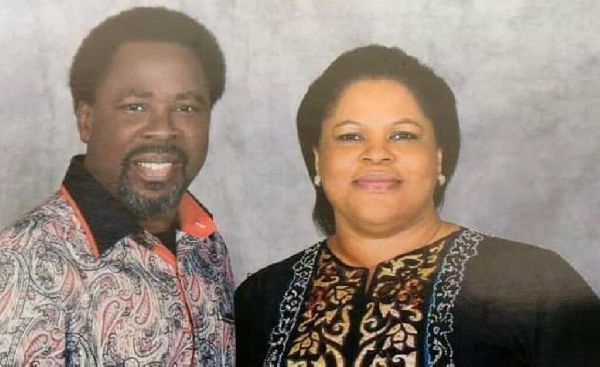 I met him unconscious in his chair - TB Joshua's wife describes her last moments with him