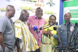 Gifty Anti, Peace FM's Kokrokoo celebrate Kweku Baako @ 67 (photos)