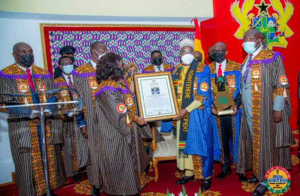 PHOTOS: Bagbin receives Millennium Excellence Awards, pledges to serve with integrity