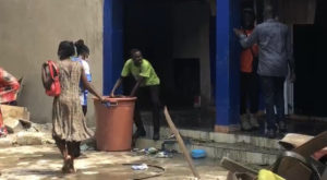PHOTOS: Fire destroys parts of CMB Police Station