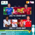 Live on StarTimes: Euro 2020: England return home for semi-finals