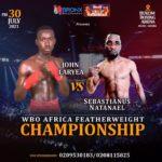Ghana's John Laryea host Sebastianus Natanael in WBO Africa Featherweight Championship