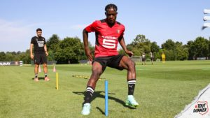 PHOTOS: Kamaldeen Sulemana trains for the first time with his new side Stade Rennais