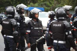 Policemen clash with angry Nima youth at Achimota Hospital
