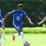 Callum Hudson-Odoi plays in Chelsea's preseason win over Peterbrough
