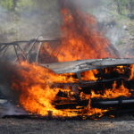 Angry robbers set taxi ablaze after failing to rob driver