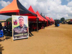 PHOTOS: Tears flow as Policeman killed in bullion van robbery laid to rest