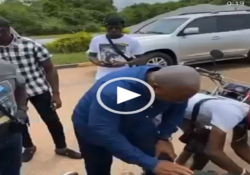 Mahama's convoy reportedly knocks down two 'okada' riders