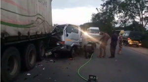 PHOTOS: Nursing mother dead, two in critical condition in accident on Kasoa-Cape Coast Highway