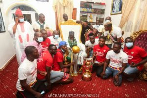 PHOTOS: Hearts present the double to National Chief Imam