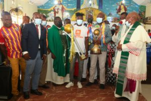PHOTOS& VIDEOS: Hearts of Oak presents two titles won to God at the St. Mary's Anglican Church-Akoto Lante