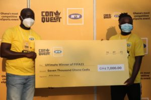 Accra based Wondha Kid wins 2nd edition of MTN Conquest 2021 E-Sports and Gaming Tournament
