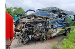 PHOTOS: Driver dead, 3 others in critical condition in accident at Buipe