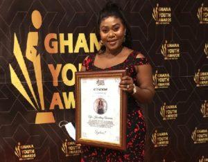 Host of #Tumhari Pahki Chatroom honoured at Ghana Youth Awards