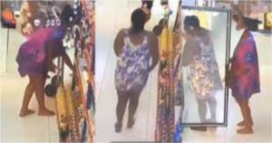 VIDEO: 2 ladies caught on camera stealing from shop