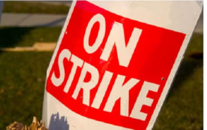 Workers' Unions SB Dombo University on strike
