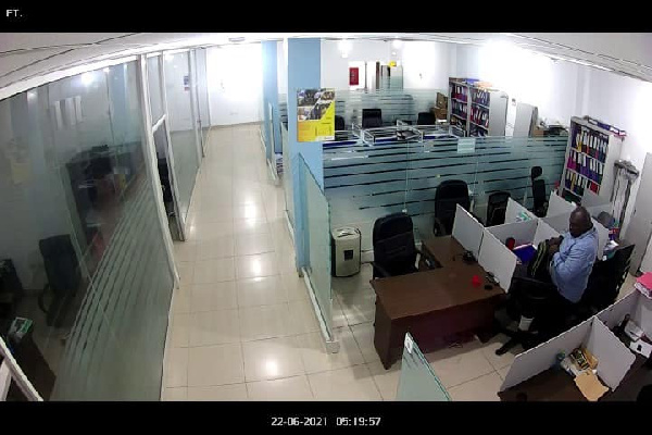 CCTV captures man stealing laptops at BOST head office