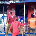 E/R: Abuakwa South NPP supporters protest against removal of MCE; lock up party office
