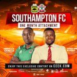 Kotoko's David Obeng Nyarko and coach Abdulai Gazale in Southampton for attachment