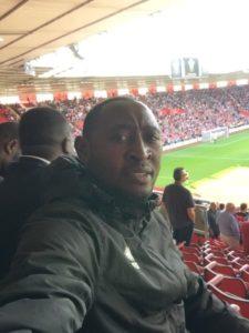 VIDEO: Kotoko's David Obeng Nyarko,Gazale spotted watching Southampton vs Wolves match