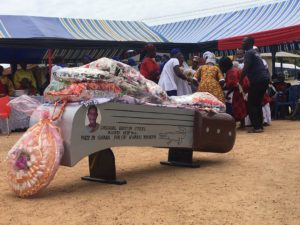 VIDEO: Happy FM Sports Journalist's father buried in cutlass-shaped coffin causes stir