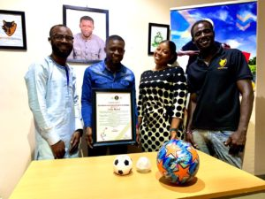 CEO Wolves Company LTD finally receives his award for 'outstanding and dedicated service to football'