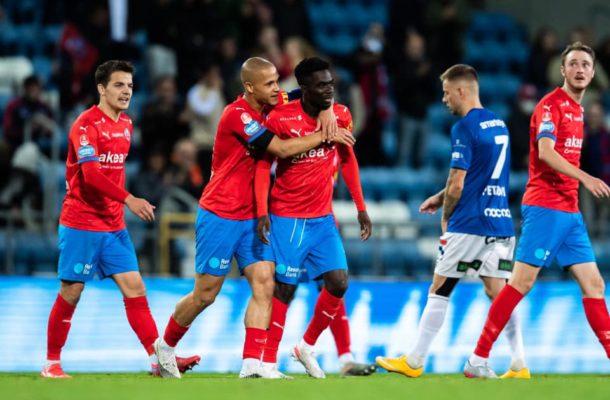 Benjamin Acquah scores maiden goal for Helsingborgs IF
