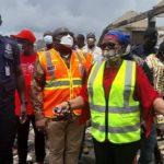 Eastern Regional Minister visits Akim Oda market after fire outbreak