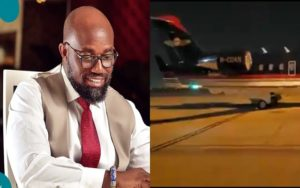 VIDEO: How McDan's private jet touched down at the KIA