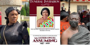 PHOTOS: Kumawood stars commiserate with Bill Asamoah as he buries his mother