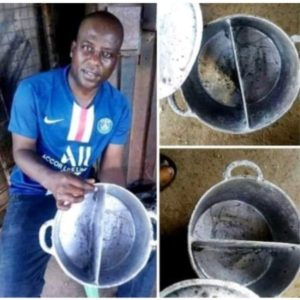Man moulds pot that allows you cook two(2) meals at once (PHOTOS)