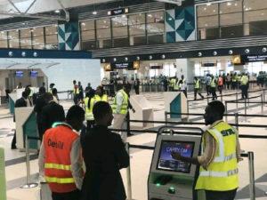 VIDEO: Angry man destroys equipments at Kotoka International Airport