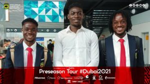 VIDEO: Kotoko's Razak Abalora and six other teammates join the rest of the squad in Dubai