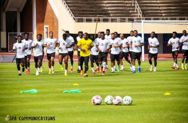 PHOTOS: Black Stars hold final training session before facing Zimbabwe on Tuesday