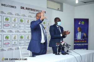 PHOTOS: CAF President Patrice Motsepe meets the press in Accra