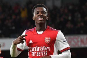 Eddie Nketiah scores to send Arsenal into Carabao Cup quarter finals