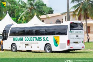 PHOTOS: GPL new boys Bibiani Gold Stars unveil new bus