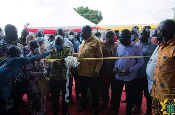 President Akufo-addo commissions garment manufacturing factory at Koforidua