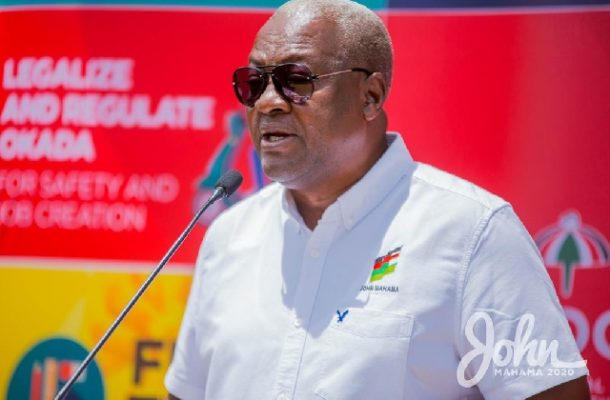 Mahama begins tour of Eastern, Western, Central, and 2 other regions today