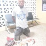 Motor rider nabbed with weapons, cash
