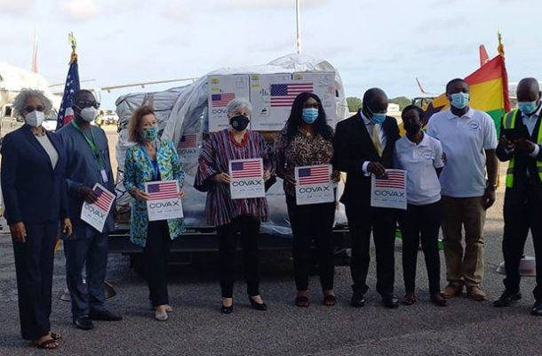 US Pfizer covid-19 vaccine arrives in Ghana
